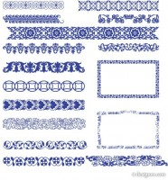 classical style border vector material