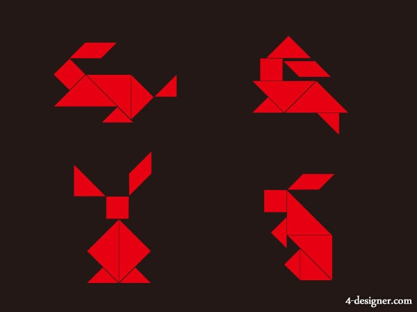 the tangram original vector