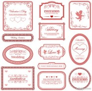 European love pattern border   Vector