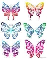 butterfly paper cut vector material   Vector