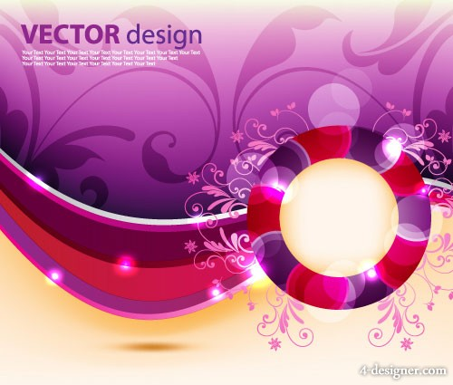 dynamic pattern background vector material 06   vector material