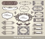 European classic lace pattern 02   vector material