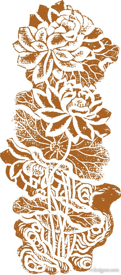 classical traditional lotus pattern Vector