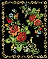 brilliant folk art painting 03 gorgeous; folk arts and crafts; painting; screens; flowers; flowers; patterns; patterns; patterns; lace; Vector   Vector