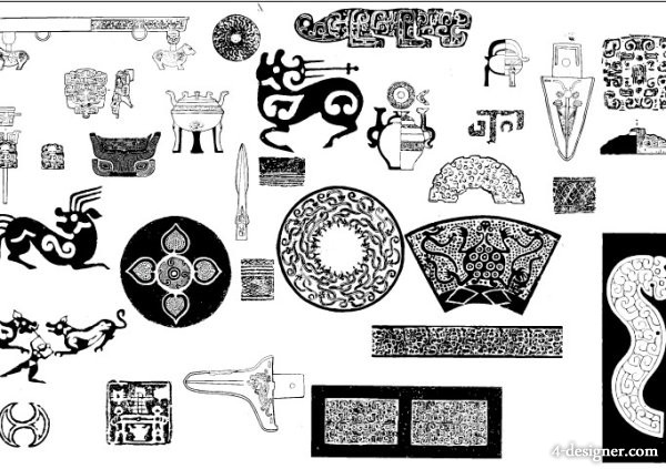 ancient the patterns pattern 02 vector material