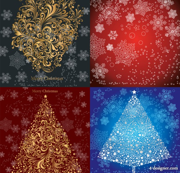 Christmas ornate pattern   Vector material