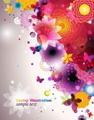 Colorful fashion pattern 04   vector material