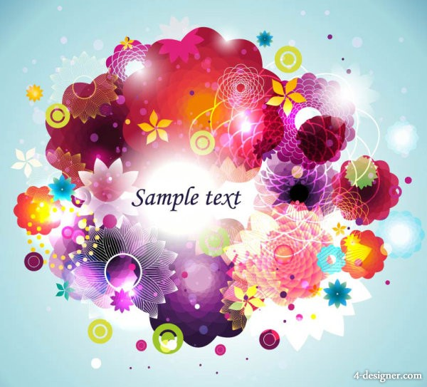 Colorful fashion pattern 05   vector material
