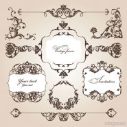 Exquisite fine pattern 05   vector material