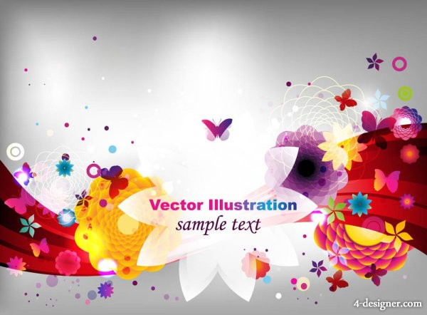Fashion Colorful pattern 02   vector material