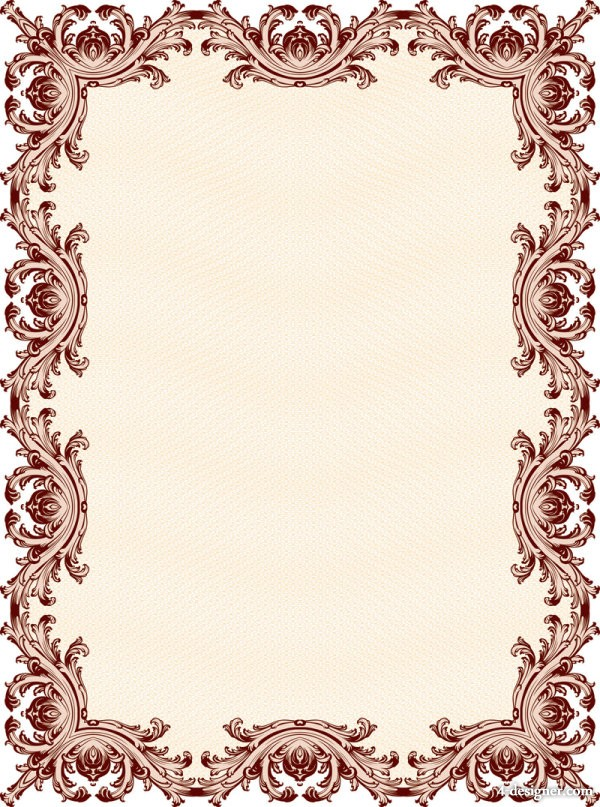 The classic security pattern border 01   vector material