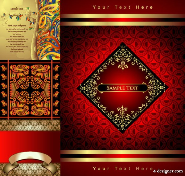 The classical patterns Totem vector material