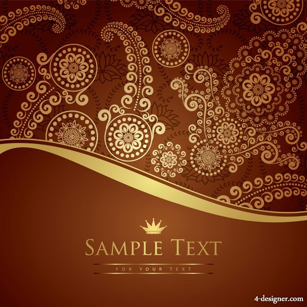 Especially gorgeous European pattern vector material