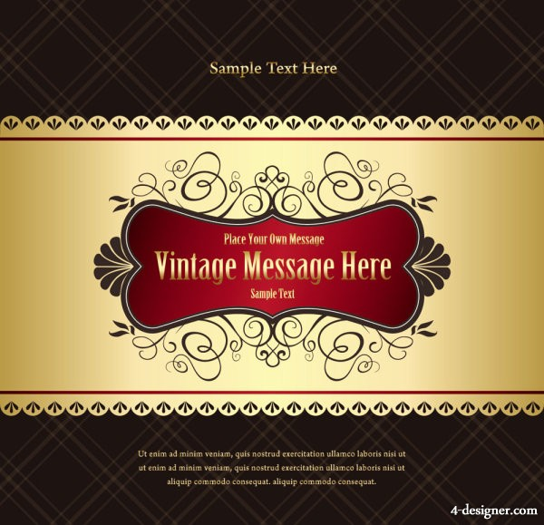 Classic European pattern background vector material 01   vector material