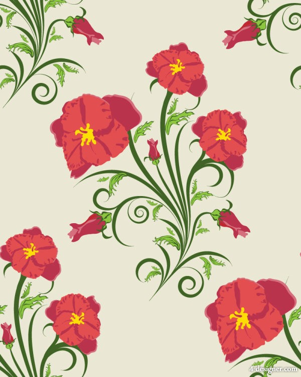 Exquisite flowers illustration background pattern 03   vector material