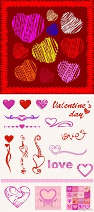 Heart shaped pattern   Vector material
