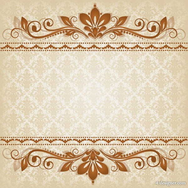 Classic lace pattern 03   vector material