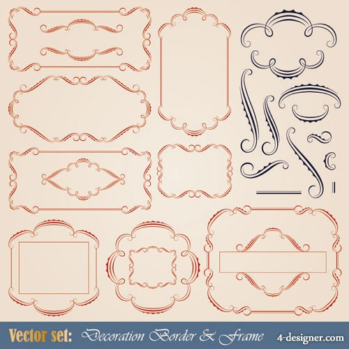 European patterns graphics 02   Vector