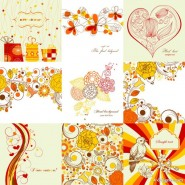 Exquisite hand painted patterns 01   vector material