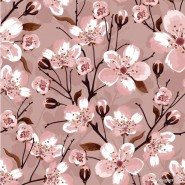 Hand painted flowers background vector material  2