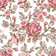 Hand painted flowers background vector material  3