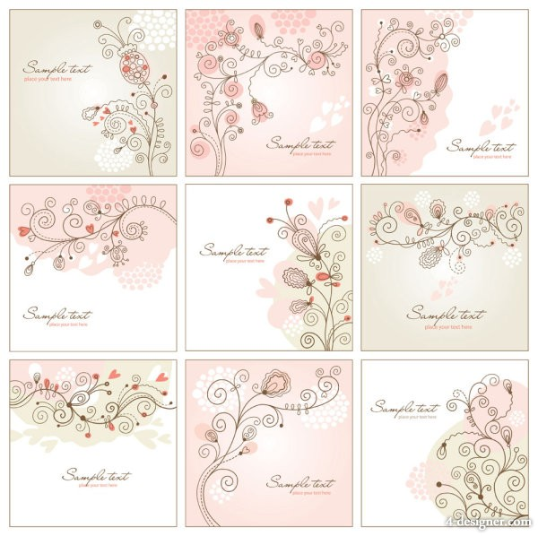Hand painted pattern hand painted background 01   vector material