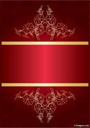 Red gorgeous background 02   vector material