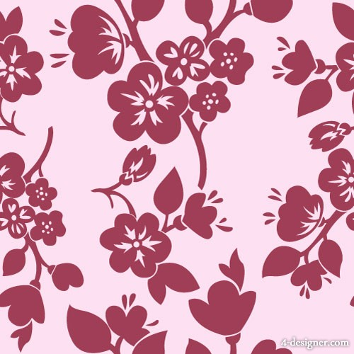 Red pattern background 05   vector material
