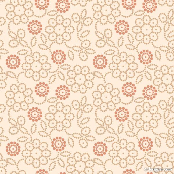 Retro flower pattern 04   vector material
