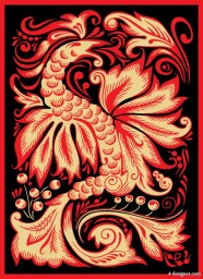 The Phoenix paper cutting pattern   Vector