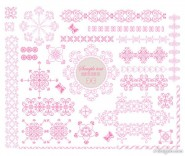 Exquisite lace pattern 03   vector material