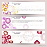 Exquisite pattern banner01 Vector material