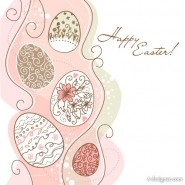 Vector hand painted Easter pattern 01   vector material
