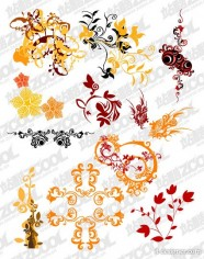 Assorted pattern vector material