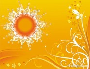 The pattern consisting sun with stylish pattern