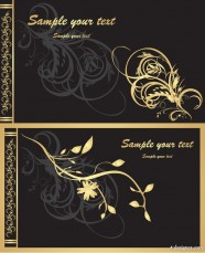 Golden ornate pattern vector material