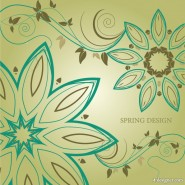 A simple but elegant pattern background 01   vector material