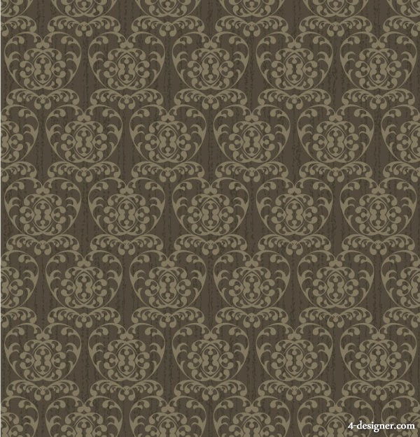 Classic retro pattern shading 04   vector material