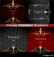 Four gorgeous patterns vector material