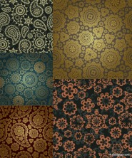 Gorgeous classic pattern background   Vector material