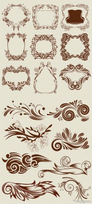 The classical lace pattern vector material