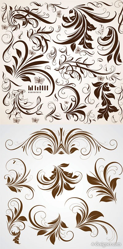 The pattern shading pattern vector material