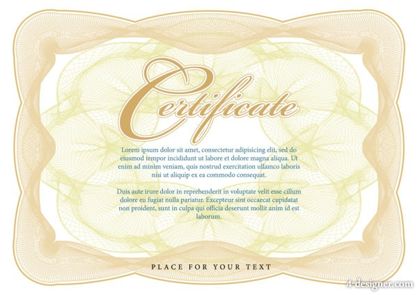 Certificate Commendation 05   vector material