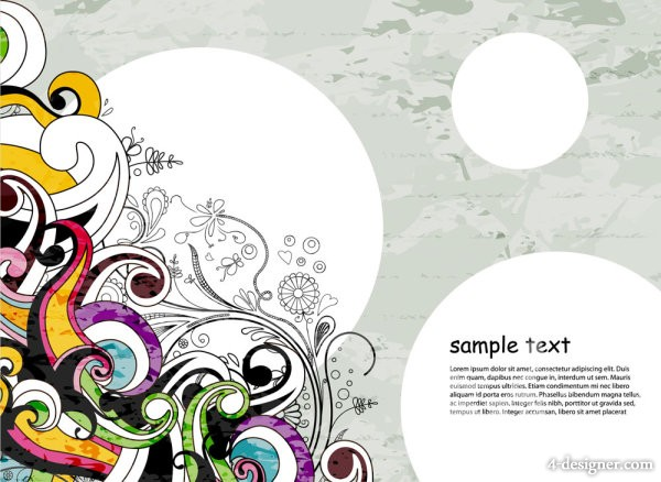 Classic fashion pattern background 02   vector material