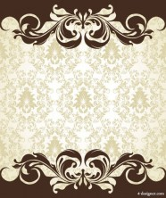 European pattern background 06   vector material