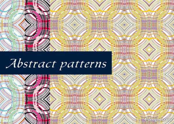 Exquisite lines pattern background 03   vector material