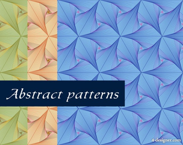 Exquisite lines pattern background 05   vector material