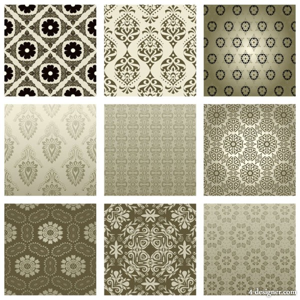 Exquisite pattern background pattern 02   vector material