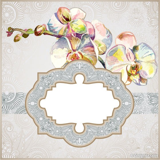 Exquisite pattern border 01   vector material