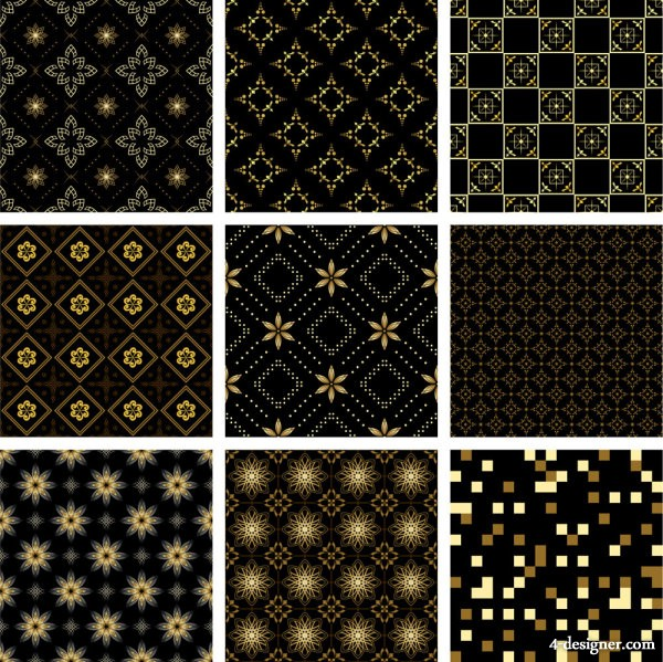 Gold pattern background   Vector material